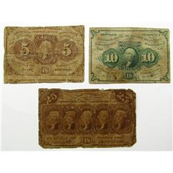 3-1862 POSTAL CURRENCY FRACTIONAL
