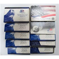 10 - U.S. Proof Quarter Sets