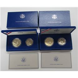 1986 STATUE OF LIBERTY PROOF 2 COIN SET