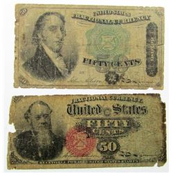 1864 & 1866 FIFTY CENT FRACTIONAL NOTES