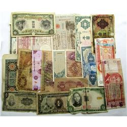 20 FOREIGN CURRENCY NOTES
