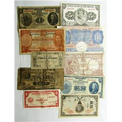 10 FOREIGN CURRENCY NOTES