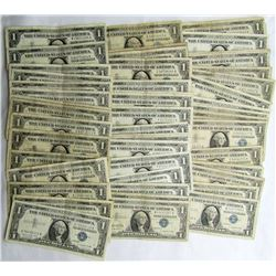 50 $1 SILVER CERTIFICATES
