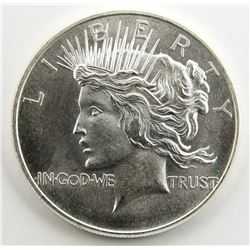 1 OZT .999 SILVER PEACE DOLLAR STYLE