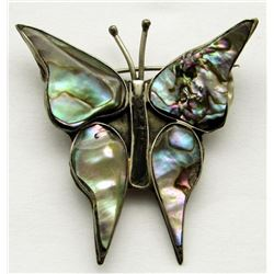 ALPACA STERLING BROOCH BUTTERFLY