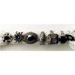 7-STERLING BLING RINGS. SOME POSSILBE
