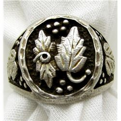 ANTIQUE MEN'S LEAF RING SIZE 12