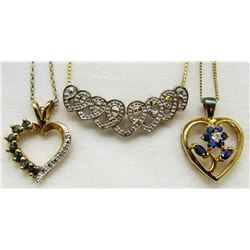 4-STERLING GOLD FILLED CHAING & (1)HEART
