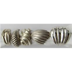 5-STERLING SILVER RINGS WITH
