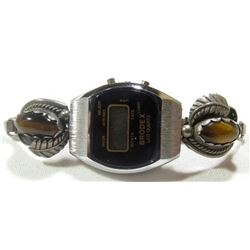 STERLING BRODEX WATCH WITH STERLING TIGER