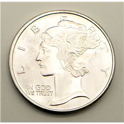 MAY FLOWER 1 OZT .999 SILVER ROUND