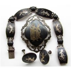 SIAM MADE ORIENTAL STERLING LOT:
