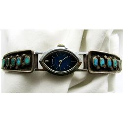 TIMEX TURQUOISE STERLING WATCH