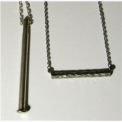 2-STERLING SILVER NECKLACES. (1) NEW!