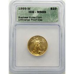 1999-W $10 AMERICAN GOLD LIBERTY