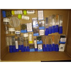 BOX OF ASSORTED EYE GLASS SCREWS, NUTS AND WASHERS