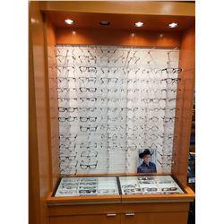 ASSORTED GLASSES / FRAMES - 8 RANDY JACKSON, 5 GANT, 9 B.U.M.,  9 RUNWAY, 1 MATCH, 2 DICAPRIO, 3 HEL