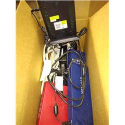 LOT OF ELECTRONICS - NETGEAR 8 PORT SWITCH, ANATEL WATCHGUARD FS1E5 AND ATT ROUTER 7550