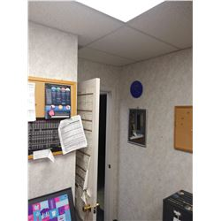 MIRROR, CLOCK AND BULLETIN BOARDS