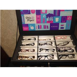 ASSORTED OTIS PIPE GLASSES AND CLIP ON SUNGLASSES
