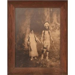 1901 W.L.Taylor Indian Chief & Indian Maiden Print