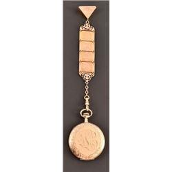 Engraved Gold-Filled Pocket Watch