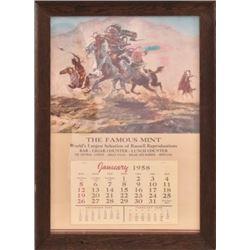 C.M. Russell 1958 The Famous Mint Bar Calendar