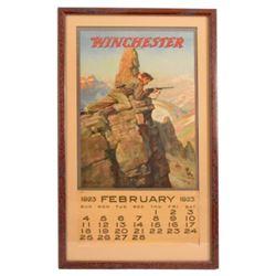 1923 Winchester Arms Co. Advertising Calendar