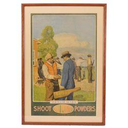 DuPont Powders Trap Shooting Advertising Poster