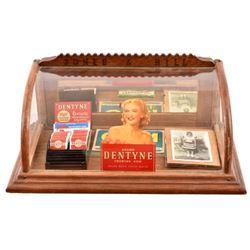 Vintage Dentyne Advertising Glass Display Case