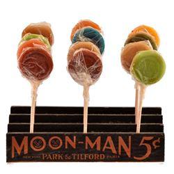 Moon-Man 5 Cent Lollipop Advertising Display