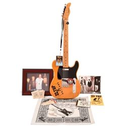 ZZ Top Band Autographed Electric Guitar