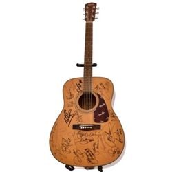 Merle Haggard & Others Autographed Fender Guitar
