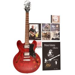 Autographed Epiphone Dot Cherry Semi-Hollow Guitar