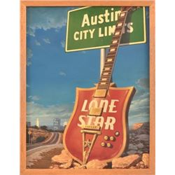 "Sam Yeates ""Austin City Limits"" Oil Painting"