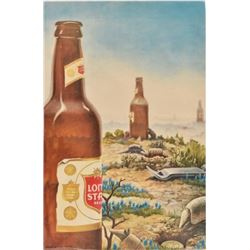 Jim Franklin Lone Star Beer Poster 1974
