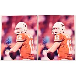 Two Colt McCoy Autographed Photos
