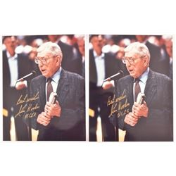 John Wooden Autographed Photographs