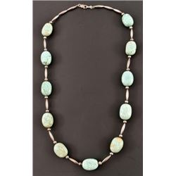 Turquoise Stone Sterling Silver Necklace