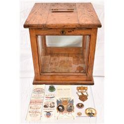 Antique Political Memorabilia & Ballot Box