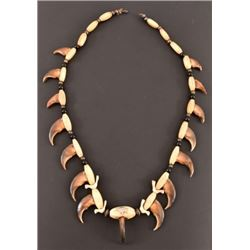 Bear-Claw Indian Jewelry Necklace
