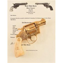 Engraved Gold Plated Colt Detective Special .38