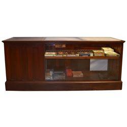 Antique Cigar Humidor Display Case