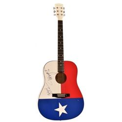 Ted Nugent Autographed Texas Flag Guitar
