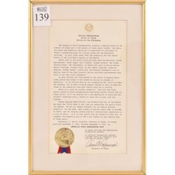 Armadillo World HQ Ann Richards Proclamation