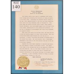 Janis Joplin Day Ann Richards Signed Proclamation