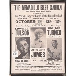 Armadillo World HQ Blues Concert Poster Etta James
