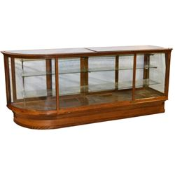 Large Curved-Glass Country Store Display Case