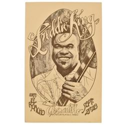 Freddie King Poster Signed to Ken Featherston
