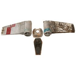 X-Wing Fighter Pieces from Star Wars: Episode IV - A New Hope.